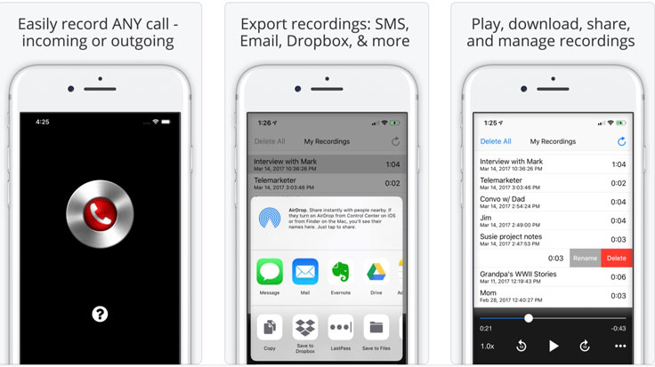 call recorder apps for ios