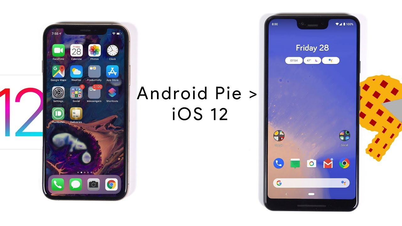 5 Features that Android Pie does better than iOS 12